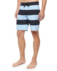 Vilebrequin Octant Striped Boardshorts - Lyst