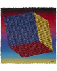 Pierre Hardy | Multicoloured Cube Inkjet Degrade Cashmere-blend Scarf | Lyst