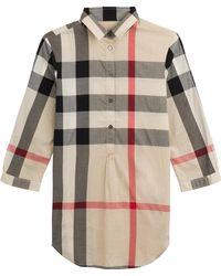 Burberry Brit Printed Cotton Shirt Dress - Lyst