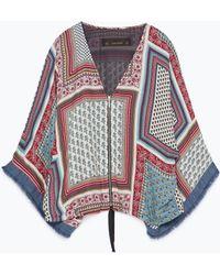 Zara Printed Kimono multicolor - Lyst