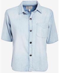 Current/Elliott Costa Short Sleeve Denim Shirt - Lyst