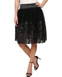 Sam Edelman Mesh W Floral Applique Skirt - Lyst
