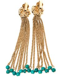 Aurelie Bidermann Palazzo Goldplated Earrings - Lyst
