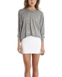 Yigal Azrouel Mothcut Jersey Top - Lyst