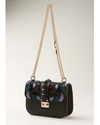 Valentino Black Embroidered Bag - Lyst