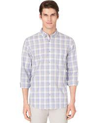 Calvin Klein Slim Fit Medium Check Sport Shirt - Lyst