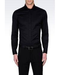 Armani Stretch Cotton Shirt with French Collar - Lyst
