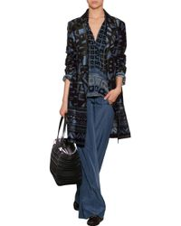 Donna Karan New York Cotton-Silk Printed Coat - Lyst