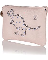 meli melo | Pink Clutch Bag Shoko For | Lyst