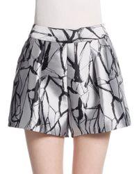 Sachin & Babi Pixie Metallic Shorts gray - Lyst