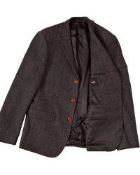 Asos Slim Fit Suit Jacket In Herringbone gray - Lyst