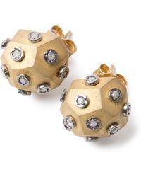 Amedeo | Diamond Ball Earrings | Lyst