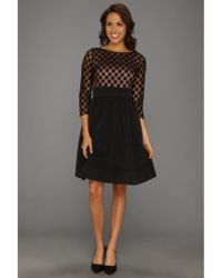 Eliza J Tiered Jersey Dress With Embroidered Bodice In