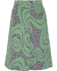 Acne Studios Kier Printed Wool-blend Tweed Skirt - Lyst