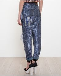 Ashish - Ripped Sequinned Jeans - Lyst