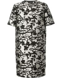 Lanvin Printed Shift Dress - Lyst