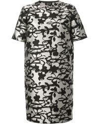 Lanvin Printed Shift Dress - Lyst