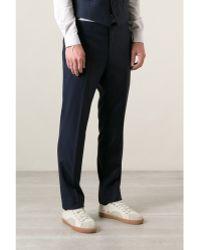 Mr Start Rivington Navy Wool Suit Trousers - Lyst