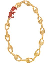 Virzi+de Luca - Gold-Plated And Enamel Lobster Necklace - Lyst