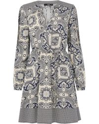 Oasis | Paisley Patched Dress | Lyst