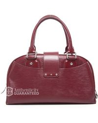 Louis Vuitton Preowned Epi Leather Bowling Montaigne Gm Bag - Lyst