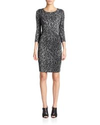 Narciso Rodriguez Jersey Printed Bodycon Dress - Lyst