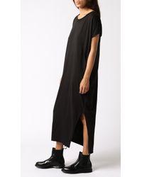 OAK Side Pleat Box Maxi Dress black - Lyst