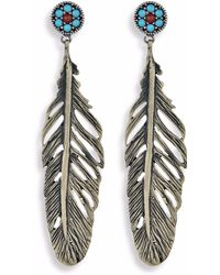 Platadepalo - Classic Silver Feather Earrings - Lyst