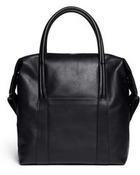 Maison Margiela Calfskin Leather Tote - Lyst