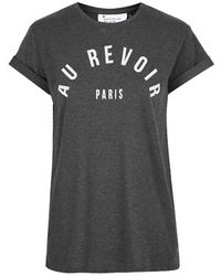 Topshop Petite Au Revoir Tee By Tee And Cake - Lyst