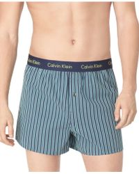 Calvin Klein Mens Woven Slim-fit Boxers - Lyst