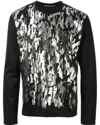 Issey Miyake Silver Rough Print Sweatshirt - Lyst