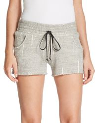 Generation Love - Distressed Drawstring Shorts - Lyst