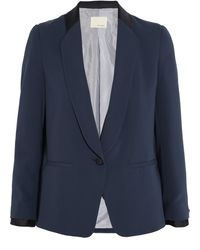 Band Of Outsiders Grosgraintrimmed Crepe Blazer - Lyst