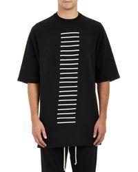 DRKSHDW by Rick Owens Stripe Appliqué Oversize Sweatshirt - Lyst