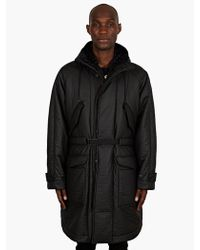 Christopher Kane Mens Black Padded Hooded Parka - Lyst