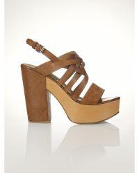 Polo Ralph Lauren Vachetta Bree Platform Sandal - Lyst