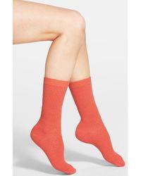 Smartwool Textured Crew Socks - Lyst