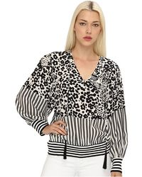 See By Chloé Ls Blouse W Drawstring Neck Line and Gathered Waist - Lyst