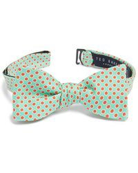 Ted Baker Dot Silk Bow Tie green - Lyst