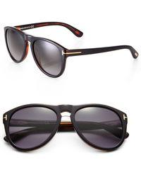 Tom Ford Kurt 56mm Acetate Sunglasses - Lyst