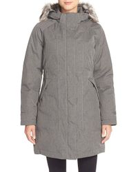 The North Face - 'arctic' Parka With Removable Faux Fur Trim Hood - Lyst