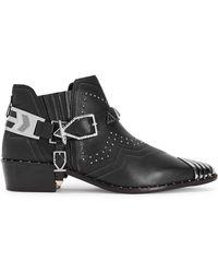 Ivy Kirzhner - Santa Fe Black Studded Ankle Boots - Lyst