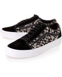 Vans Black Belmont Ivy Liberty Print Old Skool Skate Shoes - Lyst