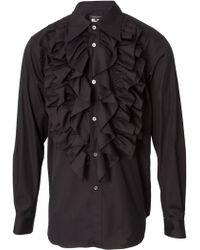 Comme Des Garçons Long Sleeve Ruffle Shirt Black - Lyst