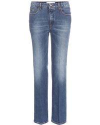 Victoria Beckham Column Leg Jeans - Lyst