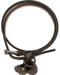 Alexander McQueen Black Cosmic Print Double Wrap Bracelet - Lyst