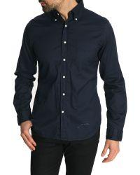 Gant Rugger Button Down Indigo Blue Shirt - Lyst