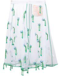 Mikio Sakabe - Organza Embroidered Skirt - Lyst