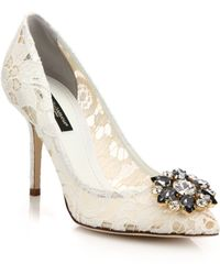 Dolce & Gabbana | Embellished Lace Pumps | Lyst